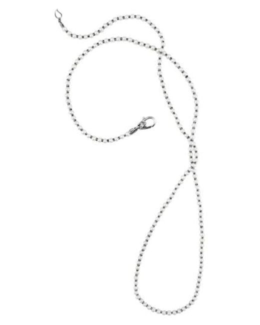 Lagos   Metallic 'luna' Long Micro Bead & Pearl Necklace   Lyst