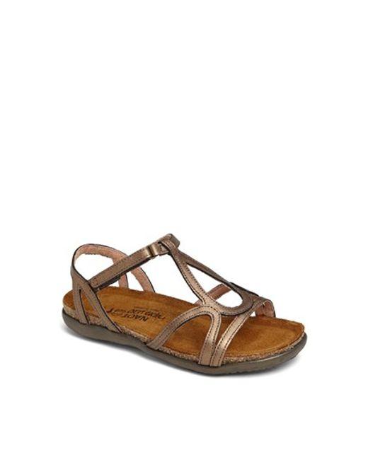 Naot | Metallic 'dorith' Sandal | Lyst