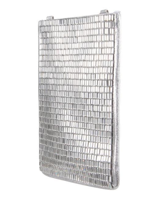 Nina - Calgary Crystal Embellished Crossbody Smartphone Pouch - Metallic - Lyst