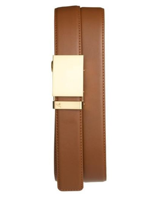 Mission Belt - Metallic 'gold' Leather Belt for Men - Lyst