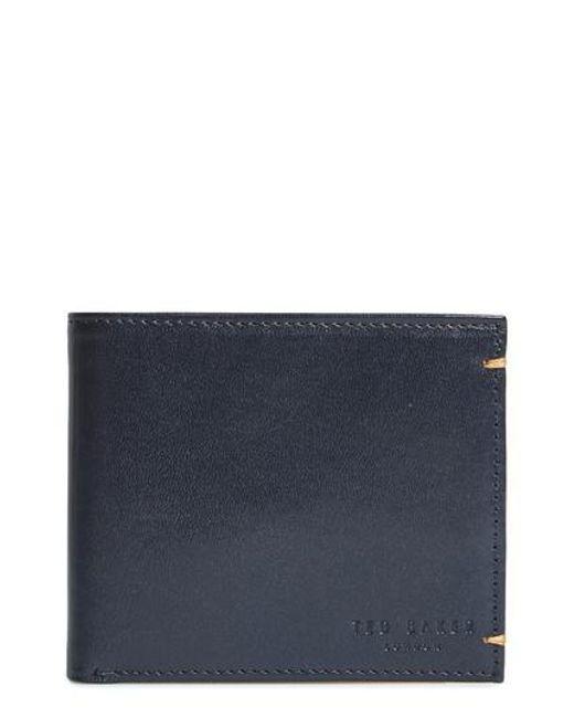 Ted Baker   Blue Vivid Leather Wallet for Men   Lyst
