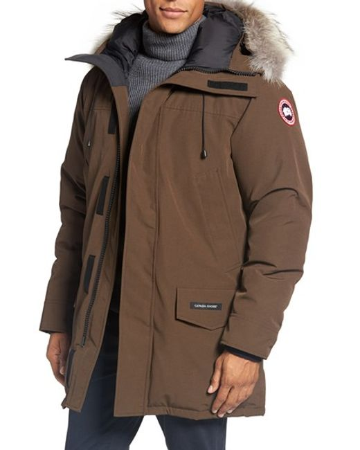 Canada Goose | Black Langford Slim Fit Down Parka With Genuine Coyote Fur Trim for Men | Lyst