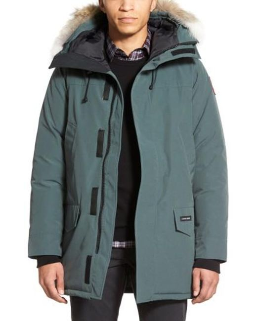 Canada Goose   Gray Langford Slim Fit Down Parka With Genuine Coyote Fur Trim for Men   Lyst