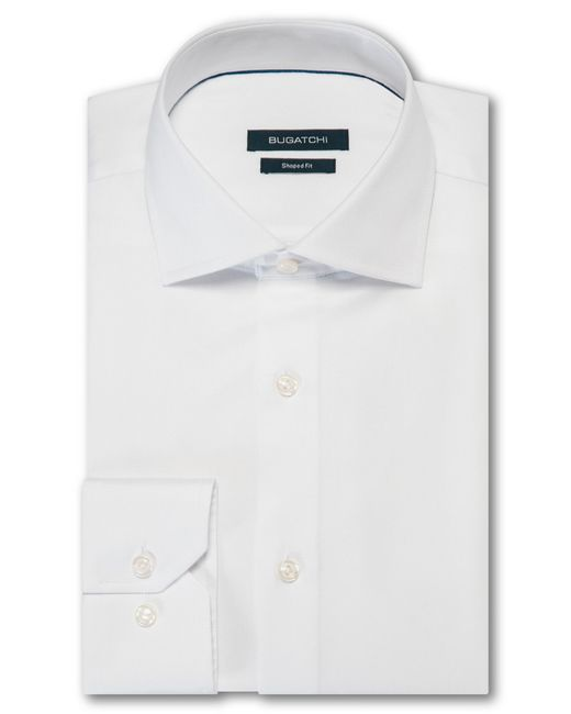 Bugatchi - Gray Shaped Fit Solid Dress Shirt for Men - Lyst