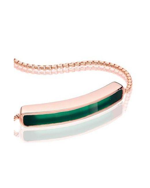 Monica Vinader | Green Baja Stone Bracelet | Lyst