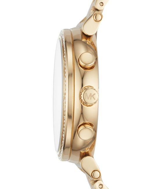 5587870e650c Lyst - Michael Kors Sofie Chronograph Bracelet Watch in Metallic ...