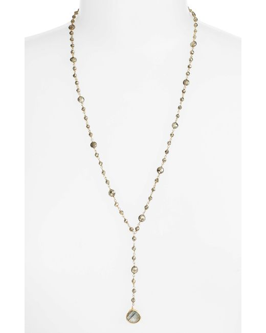 Ela Rae - Metallic Yaeli Satellite 24 Semiprecious Stone Y-necklace - Lyst