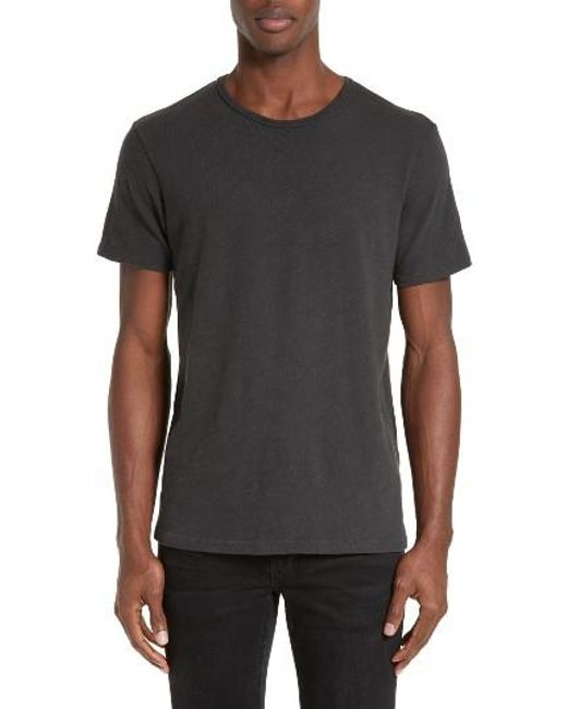 Rag & Bone | Black Standard Issue Slubbed Cotton T-shirt for Men | Lyst