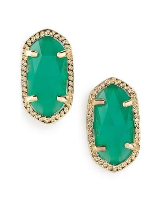 Kendra Scott | Green Ellie Birthstone Stud Earrings | Lyst