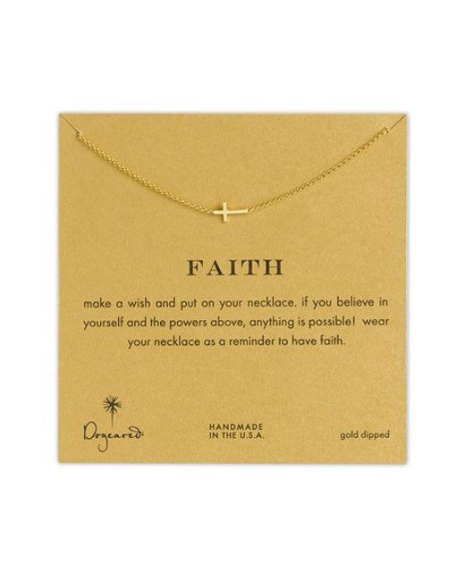 Dogeared | Metallic Faith Cross Necklace | Lyst