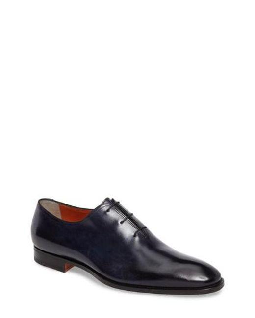 Santoni   Blue Wholecut Oxford for Men   Lyst