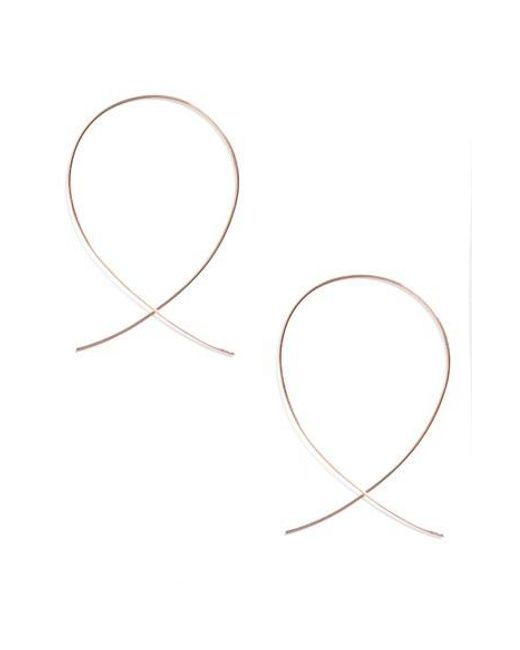 Lana Jewelry | Metallic 'upside Down' Small Hoop Earrings | Lyst