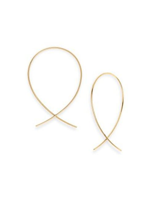 Lana Jewelry | Yellow 'upside Down' Small Hoop Earrings | Lyst