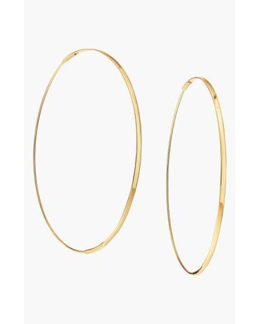 Lana Jewelry | Yellow 'large Flat Magic' Hoop Earrings | Lyst