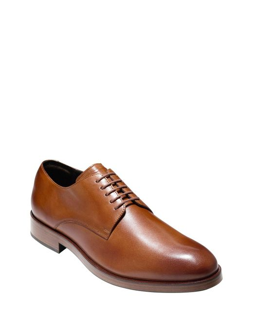 Cole Haan - Brown 'harrison Grand' Plain Toe Derby for Men - Lyst