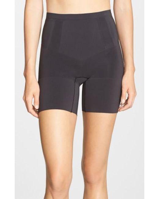 Spanx | Black Spanx Oncore Mid Thigh Shorts | Lyst