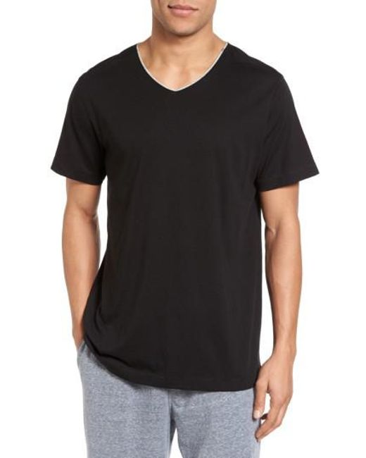 Daniel Buchler | Black Peruvian Pima Cotton V-neck T-shirt for Men | Lyst