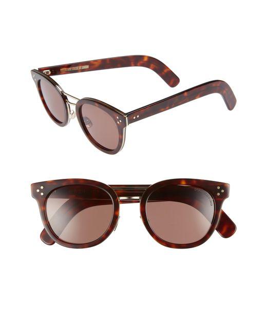 Cutler & Gross - Brown 52mm Round Sunglasses - - Lyst
