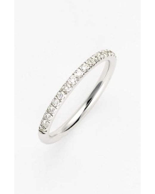 Bony Levy | White 'stackable' Large Straight Diamond Band Ring (nordstrom Exclusive) | Lyst