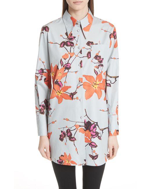 Etro - Multicolor Lily Print Poplin Shirt - Lyst