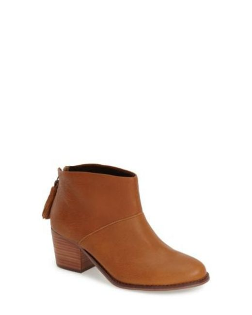 TOMS | Brown 'leila' Ankle Bootie | Lyst