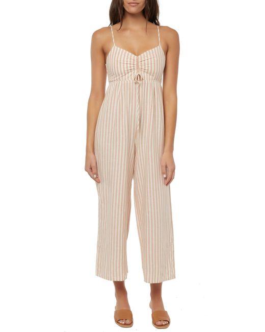 542e7700381 O neill Sportswear - Natural Anabella Stripe Flare Leg Jumpsuit - Lyst