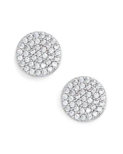 Nadri - Metallic 'geo' Stud Earrings - Lyst