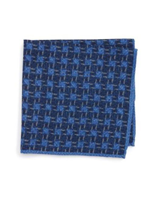 Ted Baker | Blue Grid Wool Pocket Square for Men | Lyst
