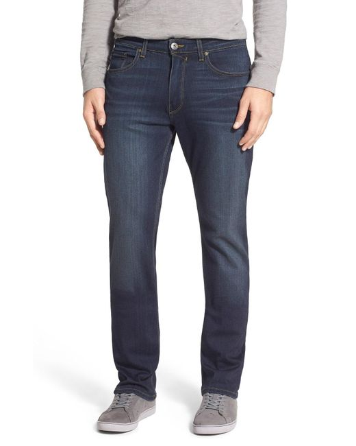 PAIGE - Blue 'normandie' Straight Leg Jeans for Men - Lyst