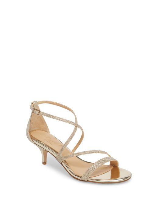 Badgley Mischka - Metallic Gal Glitter Kitten Heel Sandal - Lyst
