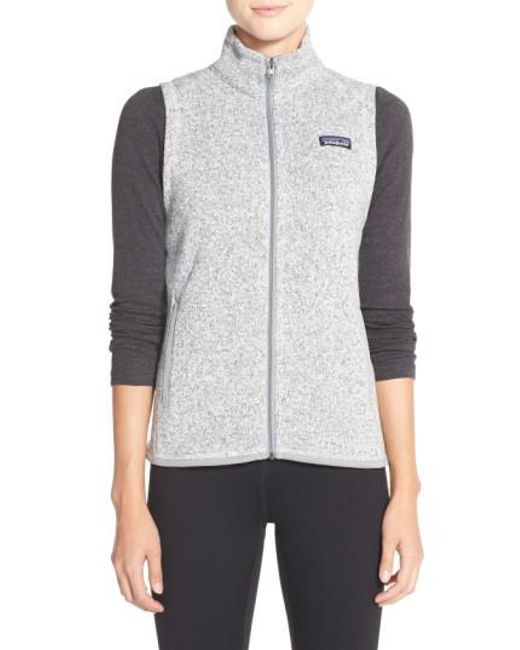 Patagonia | Gray Better Sweater Fleece Vest | Lyst