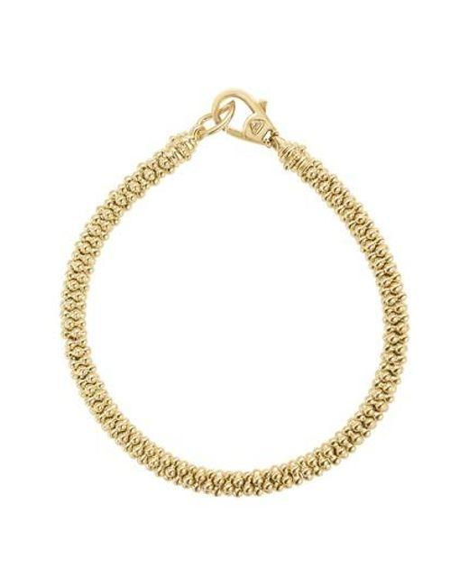 Lagos - Metallic Caviar Gold Rope Bracelet - Lyst
