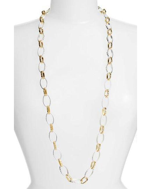 Karine Sultan - Metallic Long Link Necklace - Lyst