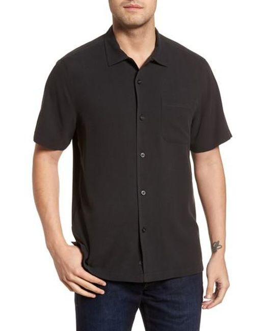 Tommy Bahama - Black Catalina Silk Camp Shirt for Men - Lyst