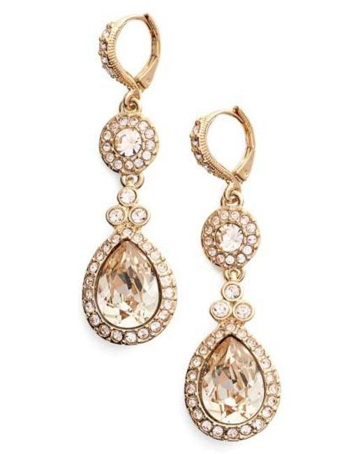 Givenchy   Metallic Wingate Drop Earrings   Lyst