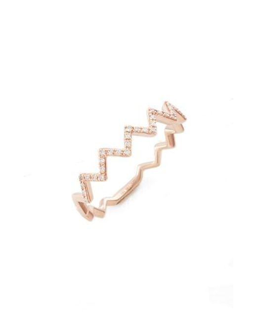 EF Collection | Metallic Zigzag Diamond Stack Ring | Lyst
