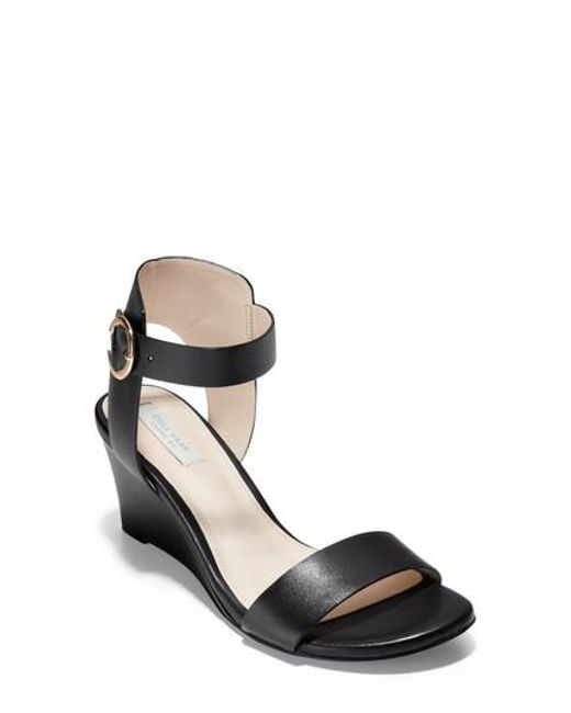 Cole Haan Rosalind Leather Wedge Sandal 9731U