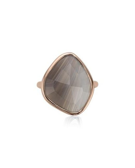 Monica Vinader - Gray Siren Nugget Semiprecious Stone Ring - Lyst