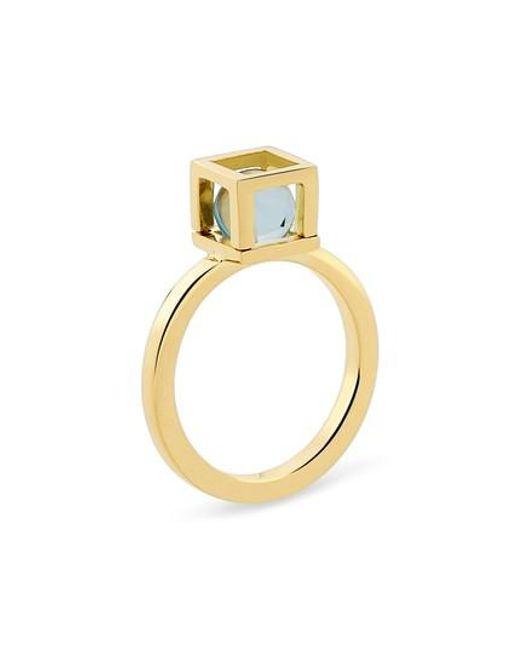 YAEL SONIA - Metallic Solo Blue Topaz Ring - Lyst