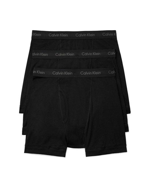 Calvin Klein - Black 3-pack Boxer Briefs for Men - Lyst