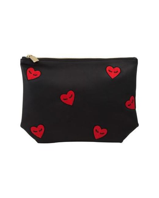 Sonix - Black Fancy Hearts Faux Leather Everyday Pouch - Lyst