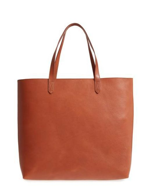 Madewell - Brown Zip Top Transport Leather Tote - Lyst