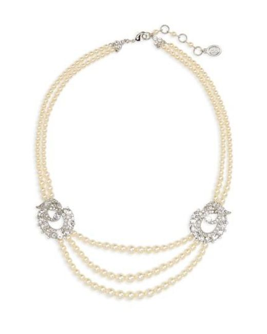 Ben-Amun | Metallic Faux Pearl Multistrand Necklace | Lyst