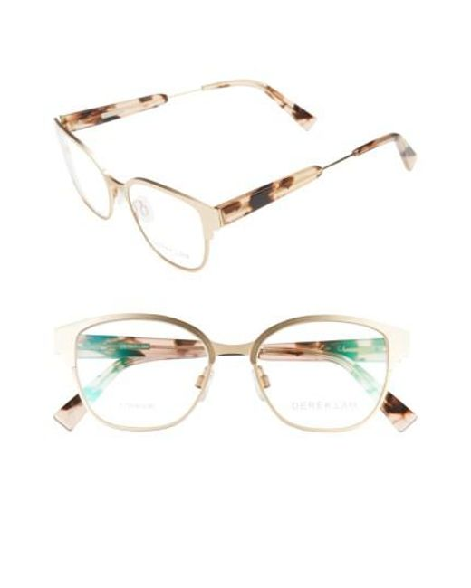 Derek Lam - Metallic 52mm Optical Glasses - Light Gold - Lyst