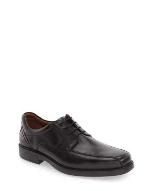 Johnston & Murphy | Black 'stanton' Bicycle Toe Derby for Men | Lyst