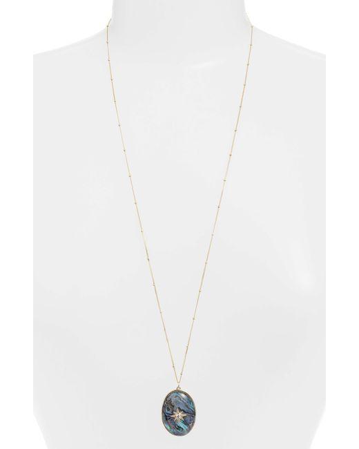 Argento Vivo - Metallic Celestial North Star Stone Pendant Necklace - Lyst