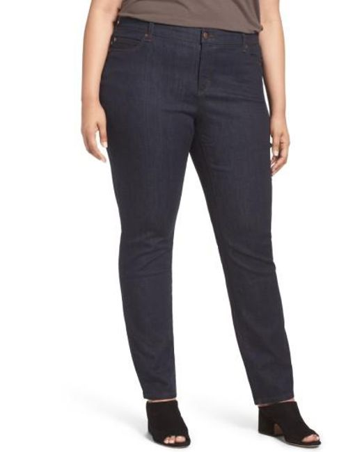 Eileen Fisher | Blue Organic Cotton Stretch Skinny Jeans | Lyst