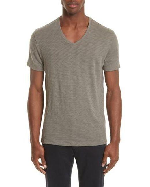 ATM | Gray Slub V-neck T-shirt for Men | Lyst