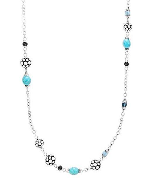 John Hardy - Metallic Dot Sautoir Station Necklace - Lyst