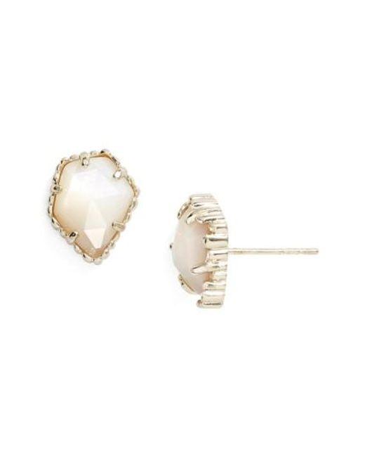Kendra Scott | Metallic Tessa Stone Stud Earrings | Lyst
